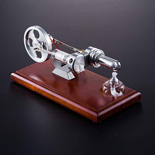 At27clekca QX-FD-03 Hot Air Stirling Engine Power Generator Motor Model Science Educational Lamp Toy Electricity Generator by At27clekca (Image #2)