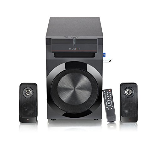 Find a Sykik Power SPP0298BT, Bluetooth Powerful 210W RMS, with 8″ Active subwoofer , 2x 8″ passive, Remote control, SD , USB and FM radio