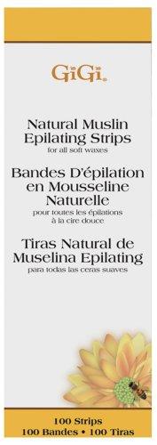 (Gigi Natural Muslin Strips, Small, 100 Strips)