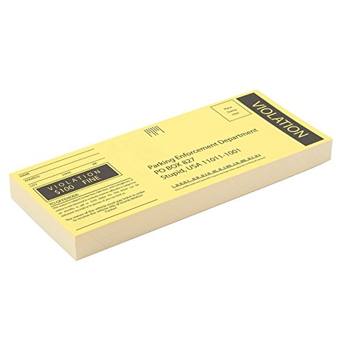 100-Sheet Fake Parking Tickets - Ticket Prank, Gag Gifts Great for Pranks, Party Favors, 6 x 2.5 Inches (Tickets Gag)