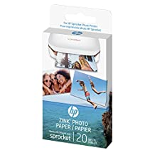 "Hewlett Packard 5911944 HP ZINK(R) Sticker Photo Paper for HP Sprocket Printer (2x3""), 20 Sheets"