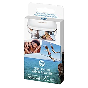 HP ZINK(R) Sticker Photo Paper for HP Sprocket Printer (2x3-inch)