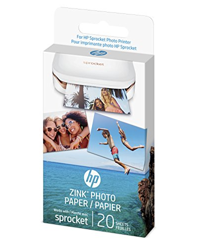 HP Sprocket Photo Paper - exclusively for HP Sprocket Portable Photo Printer - (2x3-inch) - sticky-backed 20 sheets