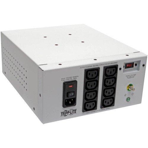 V Isolator Series Dual-Voltage 115/230V 1000W 60601-1 Medical-Grade Isolation Transformer, C14 Inlet, 8 C13 Outlets - Transformer - AC 115/230 V - 1000 Watt - 1000 VA - Output ()