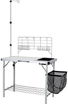 Amazon Com Ozark Trail Portable Camp Kitchen And Sink Table Furniture Decor