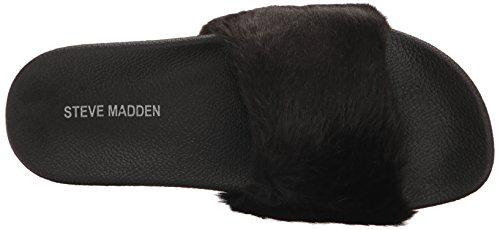 Steve Madden Damen Softey-P Slide Sandale Schwarz