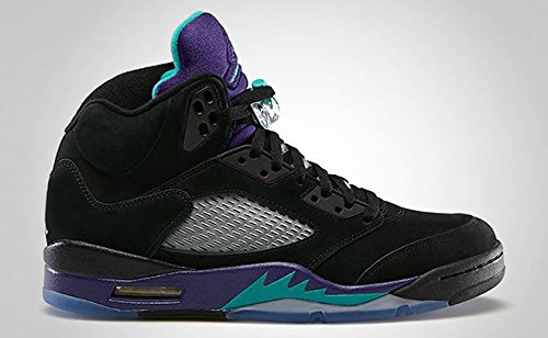 AIR JORDAN 5 RETRO (GS) 'BLACK GRAPE' - 440888-007 - SIZE 6 (Black Grape 5 Air Retro Jordan)