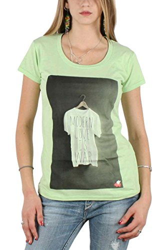 Glamour Kills - Womens Modern Love is War Tank in Green, Size: Small, Color: Green