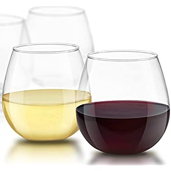 amazon com stemless wine glasses 19oz size set of 4 perfect
