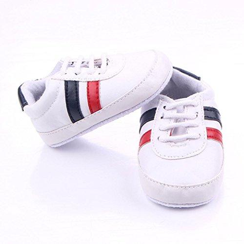 BZLine Baby Mädchen Jungen Toddler Prewalker Shoes Soft Soles Non-slip Schuhe Weiß