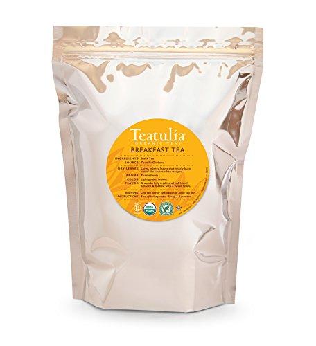 Teatulia Organic Breakfast Black Tea - 50 Premium Pyramid Bags by Teatulia
