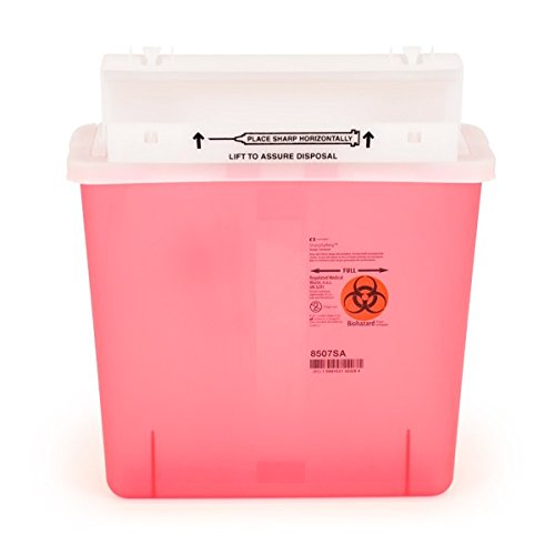 COVIDIEN 5-QUART SHARPSTAR SHARPS CONTAINERS (RED) (Case of 6) - SHARPS-60501-006 by Sharps