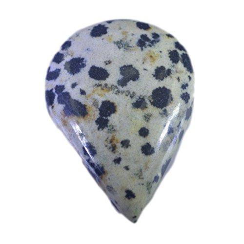 dalmatien jaspe pierre lâche poire cabochon 1 pc 25x35 mm stcbdaj-1012