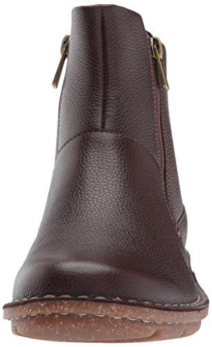 Clarks Kvinna Tamitha Blomma Boot Mörkbrunt Läder
