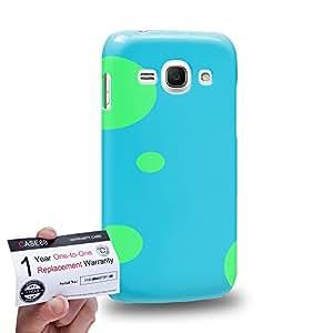 Case88 [Samsung Galaxy Ace 3] 3D impresa Carcasa/Funda dura para & Tarjeta de garantía - Art Fashion Cyan Ladybug