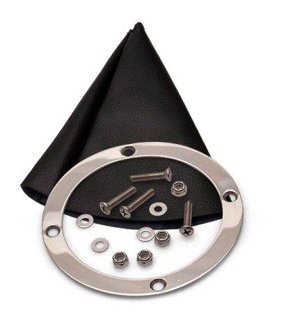 American Shifter 503057 AOD Shifter 10 Trim Kit CHR Push Btn BLK Boot Billet Knob for EEFDA