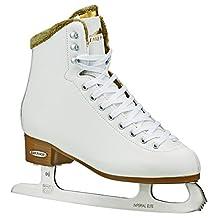 Lake Placid Whitney Women's Traditional Figure Ice Skate, White, Size 10