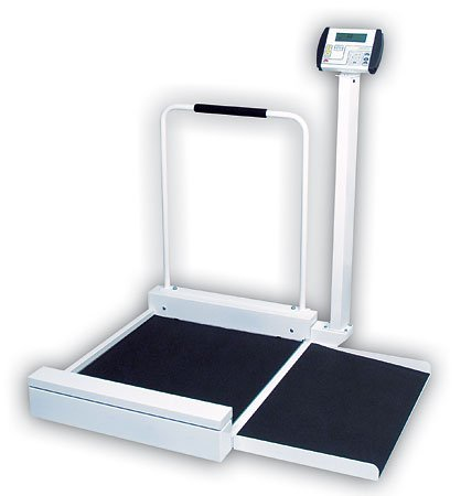 Cardinal Scale-Detecto 6495 Platform 30 in. x 26 in. x 2 in. Wheelchair Scale Digital Stationary 400 Lb X .2 Lb- 180 Kg X .1Kg by Cardinal Scale Manufacturing Company