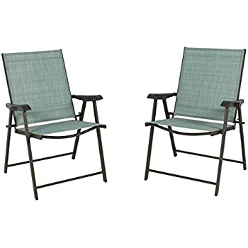 Best Choice Products Set Of 2 Folding Chairs Sling Bistro Set Outdoor Patio  Furniture Space Saving