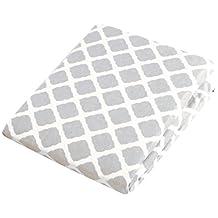 Kushies Baby Portable Play Pen Sheet, Grey Lattice