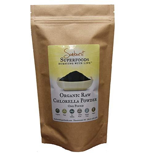 Sunburst Superfoods Organic Cracked-Cell Chlorella Powder- Raw Powdered Cracked-Cell Chlorella- 100% Pure/Non-GMO/Gluten-free/Vegan (1lb)