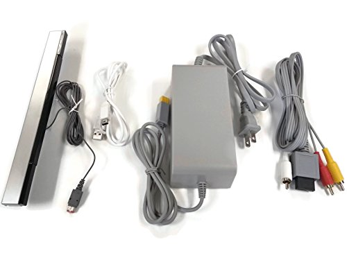 Wii U Cord Set Ac Power Supply / Av Adapter / Sensor Bar Cable / Gamepad Charger Cord
