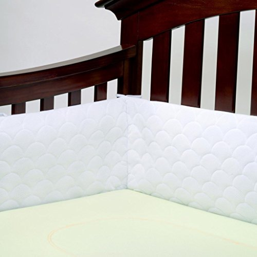 Lifenest Breathable Padded Mesh Crib Bumper -White by Lifenest