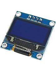 "0.96""Amarillo Azul/Azul/Blanco I2c IIC Serial Oled LCD LED Módulo 128X64 para Arduino Display Raspberry PI 51 Msp420 Stim32 SCR Kaemma(Color:White)"
