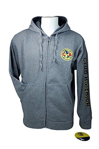 Club America Zipper Front Fleece Jacket Sweatshirt Official License Soccer Hoodie Large 013