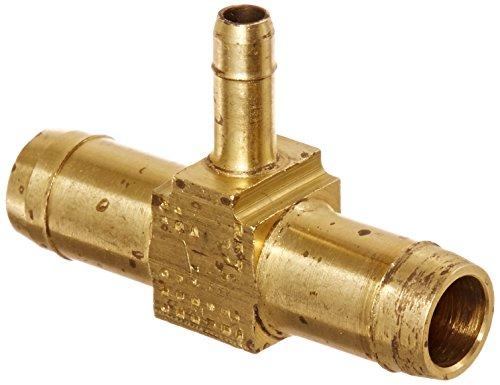 Eaton Weatherhead 1064X8X8X4 Brass CA360 Mini-Barb Brass Fitting, Union  Tee, 1/2 x 1/2 x 1/4