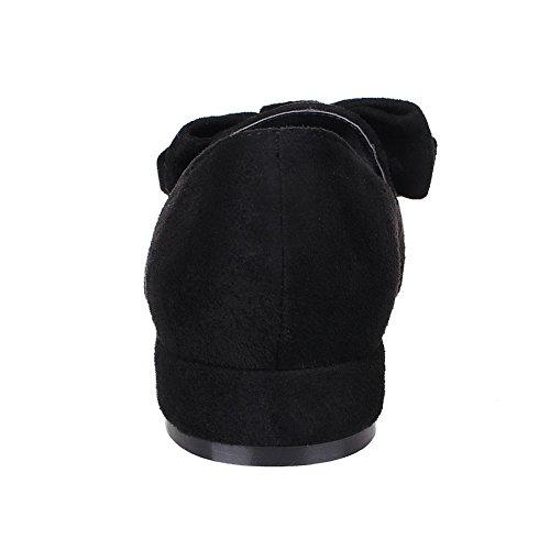 BalaMasa Ladies Metal Bowknot Pointed-Toe Imitated Leather Pumps-Shoes Black lO07sGrzV