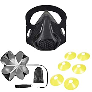 STRNGL Workout Kit with Training Mask, Running Parachute and 6 Agility Cones – High-Speed Gear Altitude Strength…