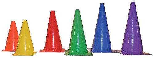 12'' Plastic Cone Set of 6 by Great Lakes Sports