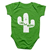 Rock Scissor Paper Cactus Baby Bodysuit - Apple Green - 12 months