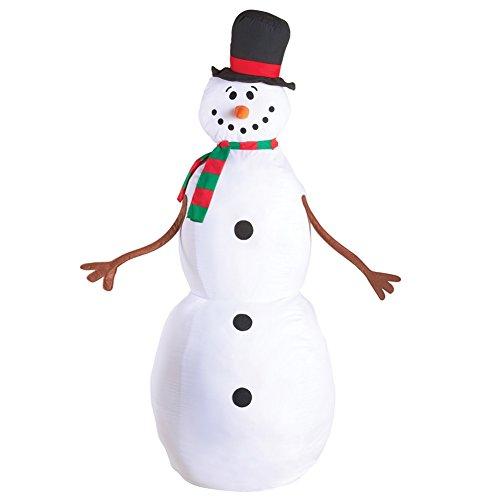 Plastic Snowman - Stuffable Holiday Snowman 4ft