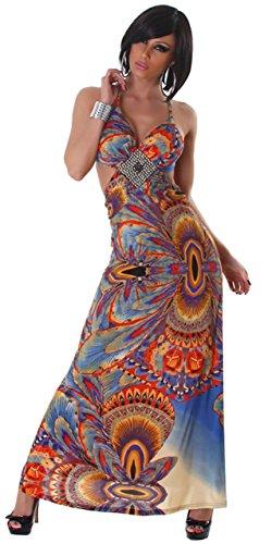 Graffith - Vestido - cuello hálter - Sin mangas - para mujer naranja