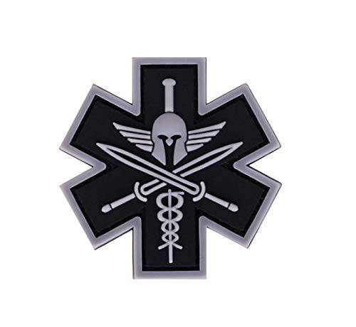 Spartan Medic Tactical EMT EMS 3D PVC Tactical Morale Rubber Patch (Black)