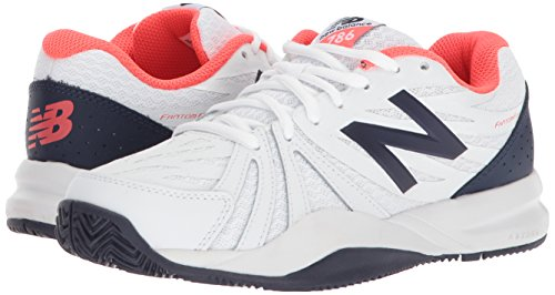 New Tennis Shoe, Vivid Coral/White, 12 US