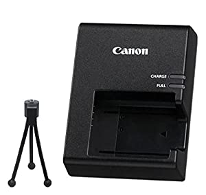 LC-E10 Battery Charger for Canon LP-E10 Battery Pack & for Canon EOS Rebel T3 Digital SLR Camera + Flex Tripod.