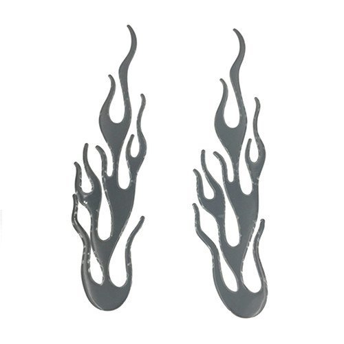 - Black Flames Auto Car Decal Sticker/Badge/3D Flame Fire PVC Reflective Stickers Scooter Offroad Motorcycle