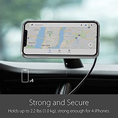 Moshi SnapTo Magnetic Car Mount Wireless Charging Qi-Certified [Only Compatible with Moshi SnapTo Series Cases], Fast Charge Up to 10W, Dual Mounting for Dash & Air Vent [USB A Port Charger Needed]: Home Audio & Theater