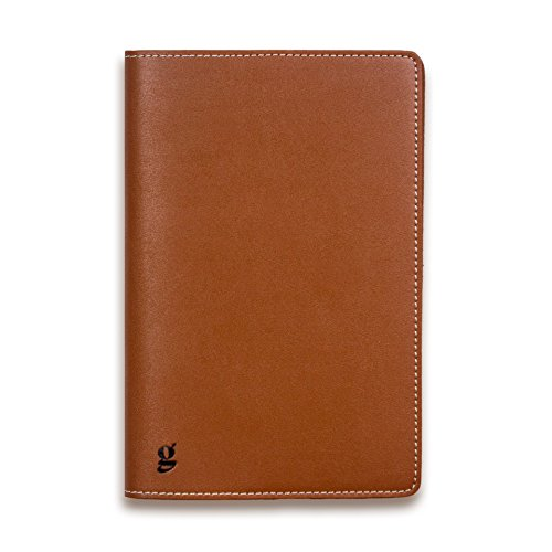 Goldleaf Vegan Leather Journal Cover, Saddle Brown Faux Leather A5 Notebook Case, Fits Journals up to 8.6 inches x 5.8 inches