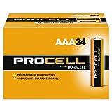 Procell Alkaline Batteries, AAA, 24/Box, Total 144 EA, Sold as 1 Carton