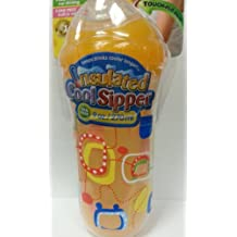 Nuby 9 oz No-Spill Insulated Cool Sipper, Orange