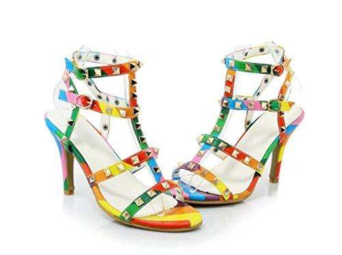 33 Color Comodidad remaches 38 Sandalias 31 Sandalias Color Romanas Compras fiesta color Xie 41 9cm 164Oqfc
