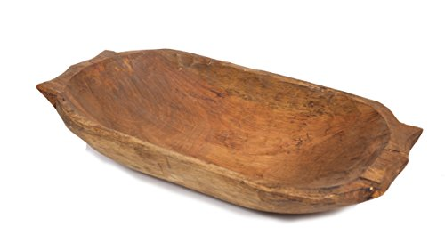Deep Wooden Dough Bowl w/ Handles-Batea by Mexican Imports