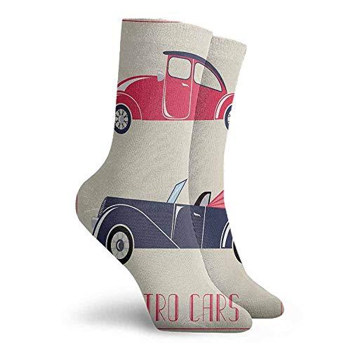 Cars Crew Socks Light Cushion Athletic Socks Dark Coral Night Blue Pink (Pink Sock Monkey Lovey)