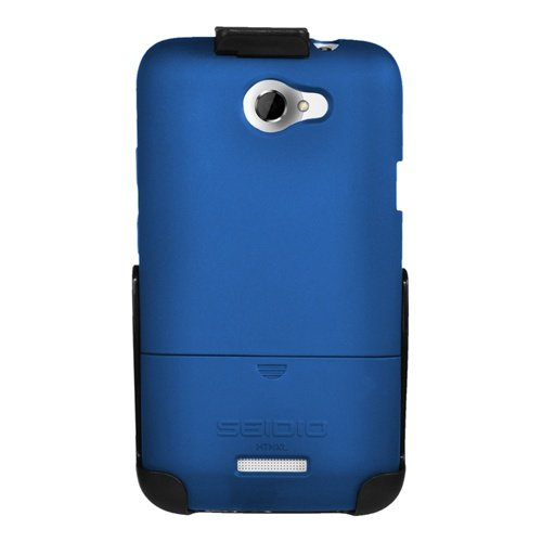 Seidio BD2-HR3HTNXL-RB SURFACE Case and Holster Combo for use with HTC One X (AT&T LTE)-Combo Pack-Retail Packaging-Royal Blue