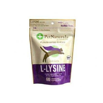 Pet Naturals of Vermont L-Lysine 60 Fun-Shaped Chews for Cats - 5 pack by Pet Naturals