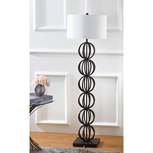 Safavieh Lighting Collection Suzie Sphere Black 59-inch Floor Lamp (Table Lamp Spheres Traditional)